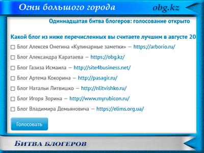 bitva blogerov - Подведение итогов