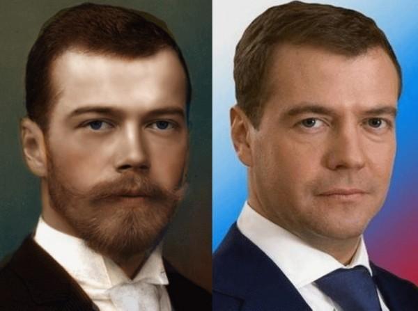 Николай IIи Дмитрий Медведев