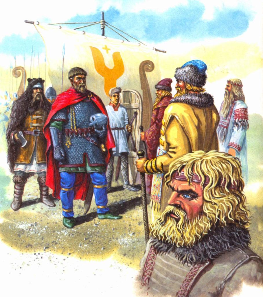Рюрик и славянские вожди