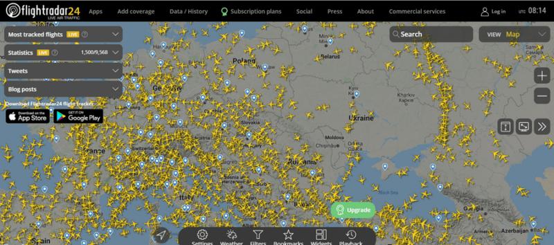 flightradar - Что интересного онлайн